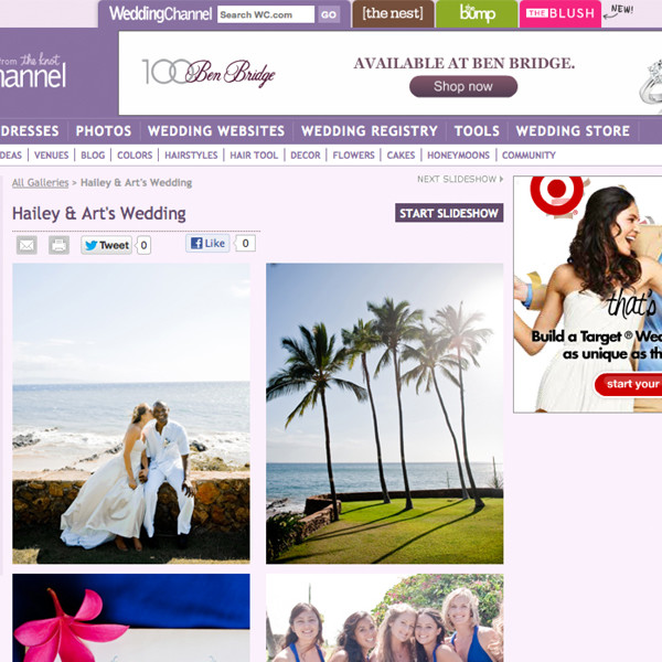 Featured: Wedding Channel. Art & Hailey Maui Wedding