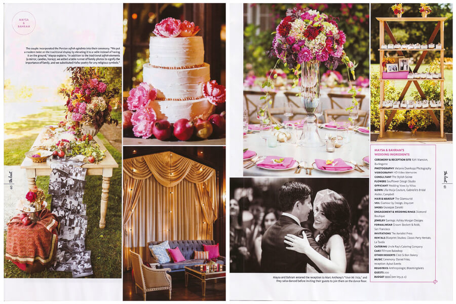 Featured: The Knot Northern California. Maysa & Bahram.
