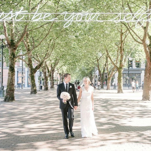Lydia & Andrew. Romantic and Modern Seattle Wedding