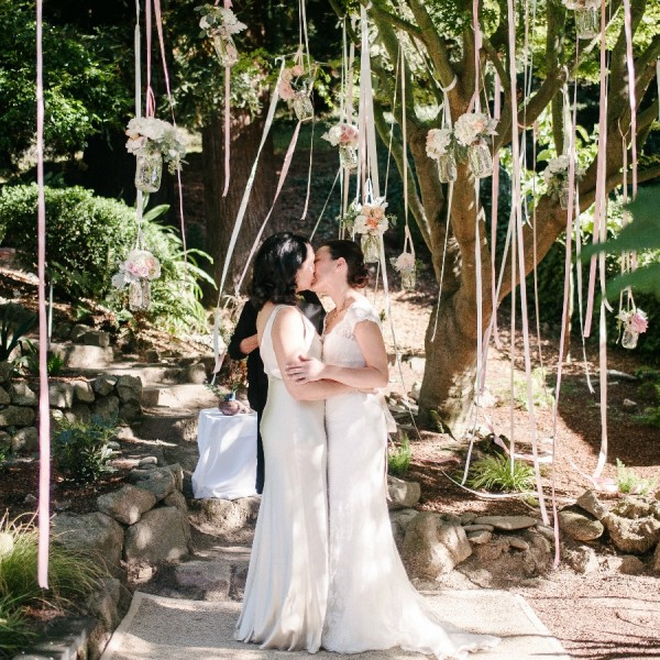 Sonia & Cynthia's Romantic Outdoor Wedding