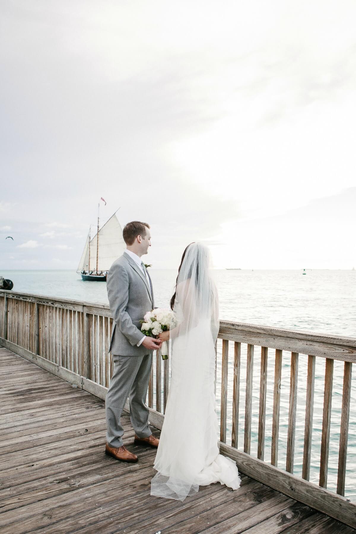 Melanie Duerkopp, Melanie Duerkopp Photography, Key West Wedding, Destination Wedding, Destination Wedding Photographer, San Francisco Wedding Photographer, romantic, outdoor, beach wedding, blush bridesmaids gowns, blush and grey