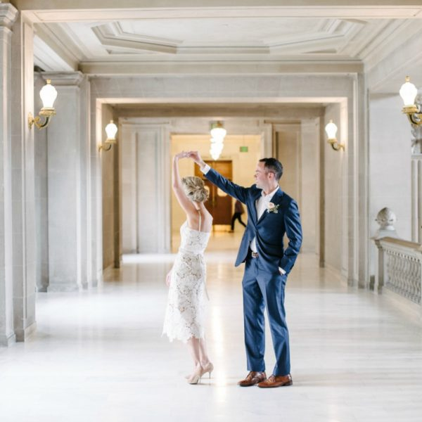 Romantic City Hall Wedding