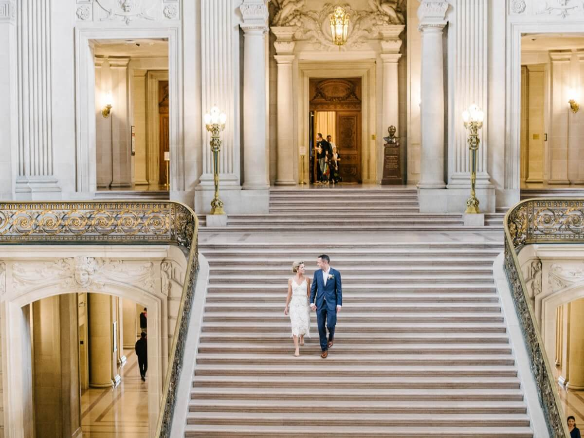 Melanie Duerkopp Photography, San Francisco City Hall, San Francisco Wedding Photographer, wedding photographer, Bar Area Wedding Photographer, Northern California Wedding Photographer, city hall wedding, BHLD, The Glamourist, SF City Hall, Natalie Brown Design, navy and white, romantic, Melanie Duerkopp