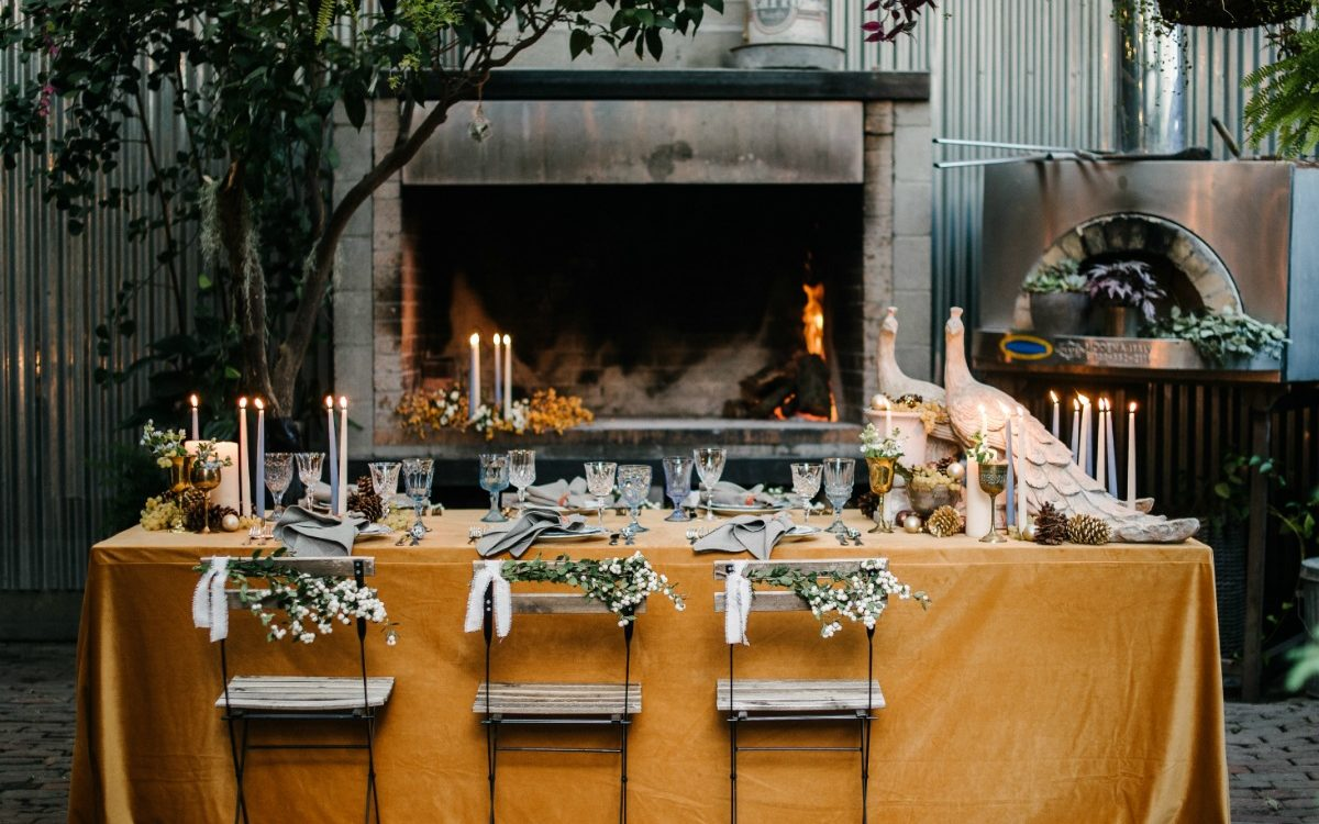 Rustic Outdoor Fall Dinner