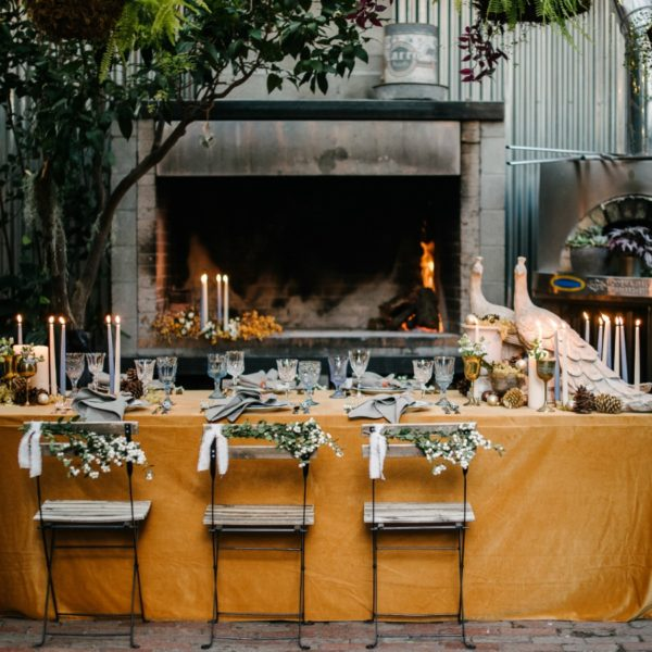 Rustic Outdoor Fall Dinner